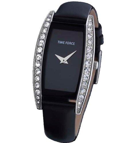 Orologio Time Force di donna. Acciaio Cinturino Di Pelle verniciata. Nero. tf-3153l01