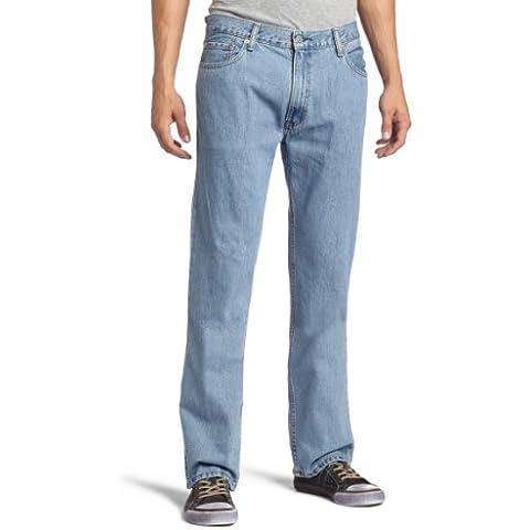 Levi's 505 Regular Fit Jean, Hombre (Levi's 501 con cremallera) (W36/L29 (ES 46), Light Stonewash)