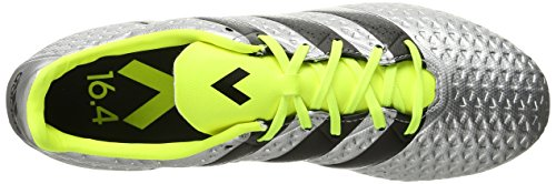 Adidas Performance Ace 16,4 Fg / AG Scarpe da calcio, nero / shock rosa / verde scossa, 6.5 M Us Silver Metallic/Black/Electricity