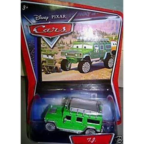 TJ Hummer Disney Cars TUF GUE (TUF GUY) License Plate Error Misprint 1:55 Scale Mattel by Mattel