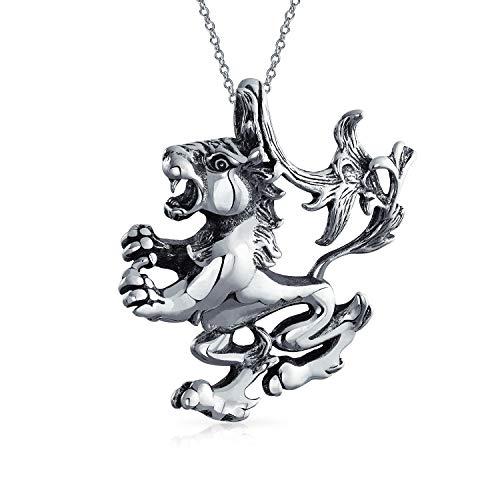 Löwe Sternzeichen Astrologie Horoskop Anhänger Für Damen Für Herren Halskette Antiqued 925 Sterling Silber