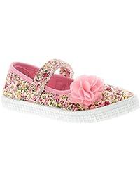 Princess Stardust Paloma Zapatos de Lona para Niña Rosa - Rosa - GB Tallas  ... 8360f49daeaf2