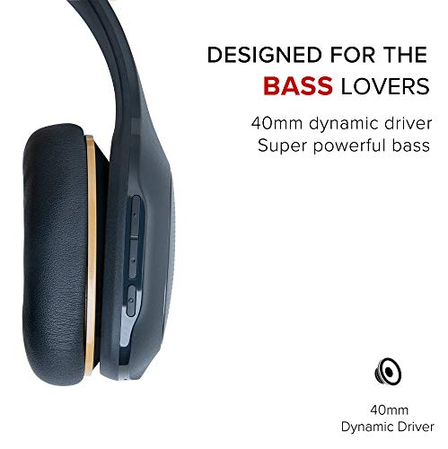 Mi Super Bass Wireless Headphones with Super Powerful bass, up to 20hrs Battery Life, Bluetooth 5.0 (Black and Gold) Image 3