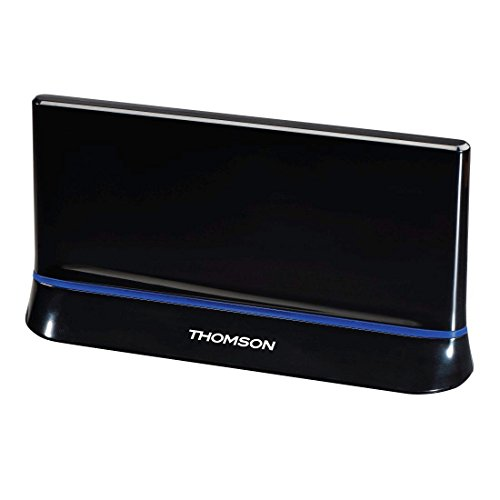 Thomson Zimmer-Antenne für TV/Radio ANT1538 (HDTV/3D, DVB-T/DVB-T2, aktiv, mit Signalverstärkung, Performance 45)