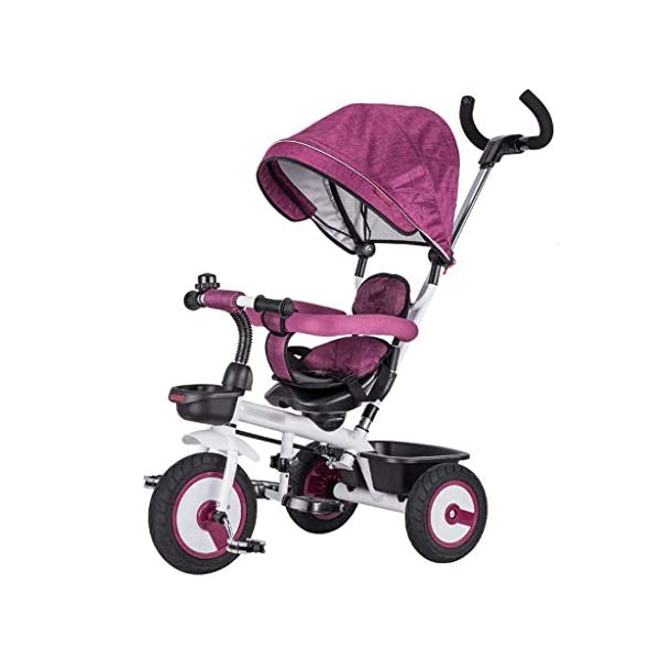 Qi Tai/ Baby trolley Children's Tricycle Bicycle 1-3 Years Old Baby Stroller 2-6 Baby Infant Child 3 Wheeler Large (color : G) Qi Tai The multi-function baby cradle can adjust the seat. Environmentally friendly and antibacterial fabrics are not easily torn or will not be allergic to baby's skin.  Seat: The seat is turned in two directions, easy to rotate, intimate every moment, facing the world to satisfy the baby's curiosity, and intimately interacting with the mother and the baby. 1