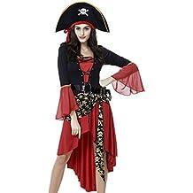 Costume carnevale travestimento da pirata con capello e cintura vestito cosplay festa