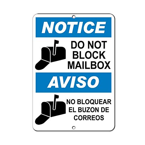 Post Hole Bar (Vincentney New Tin Sign Rustic Post Notice Do Not Block Mailbox Parking Novelty Metal Sign Aluminum 12x8 INCHh)