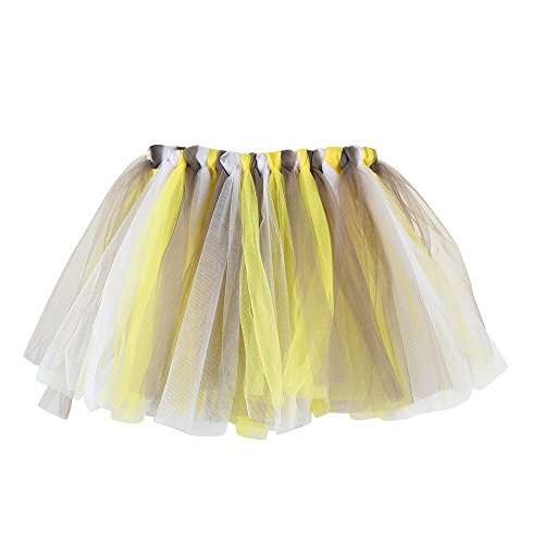 Fuibo Mädchen Kinder Baby Tanz Fluffy Tutu Rock Pettiskirt Ballett Fancy Costume Ballettrock Tüllrock für Party Halloween Kostüme Tanzen (J)