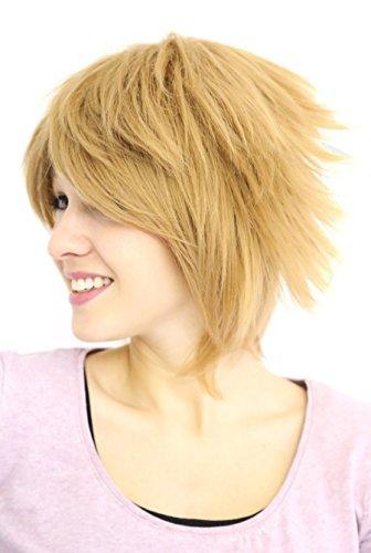 Prettyland C297 - 35cm blond Skipy Pixie Stil Theater cosplay kurze Perücke
