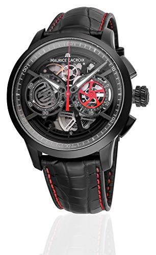 Maurice Lacroix Masterpiece Skeleton Automatik Uhr, Chronograph, ML 206, PVD