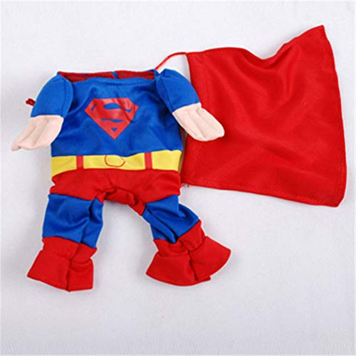 Feidaeu Funny Dog Clothes Cool Cartoon Kostüm für kleine Hunde Katzenpüle Kostüm Lovely Chihuahua Welppy - Superman Dog Kostüm Medium