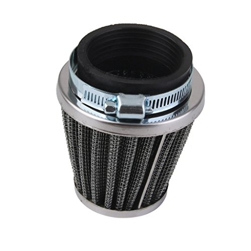 ELECTROPRIME 48mm Universal Motor Cone Intake AIR Filter with ADAPTORS CALMP Ring