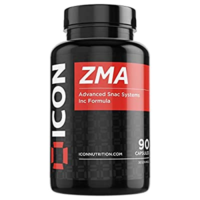 ICON Nutrition ZMA Capsules Zinc and Magnesium Supplement - Better Quality Sleep - Testosterone Booster for Men - 1 Month Supply | 90 Capsules from ICON Nutrition