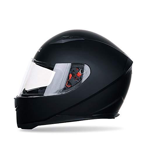 YAUUYA Motorradhelm Vollvisierhelm Integralhelm Motorhelm DOT-zertifizierter Racing Cruiser Roller Fahrrad Roller Helm Erwachsene Männer und Frauen, M/L/XL/XXL -