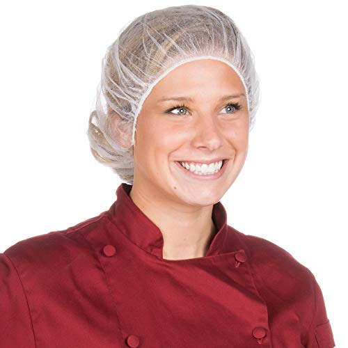 Haarnetz Bouffant - weiße Einweg-Haarnetze, leichte Einweg-Bouffant-Kappe für Lebensmitteldienst, chirurgische Kappen, Gesundheitseinrichtung, Labore und Restaurants, regulär/groß, Weiß, 24 In