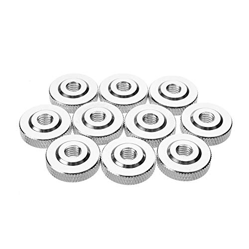 DyNamic Suleve M6An2 10Pcs M6 Knurled Thumb Nut W/Collar Screw Spacer Washer Aluminum Alloy Multicolor - Silber -