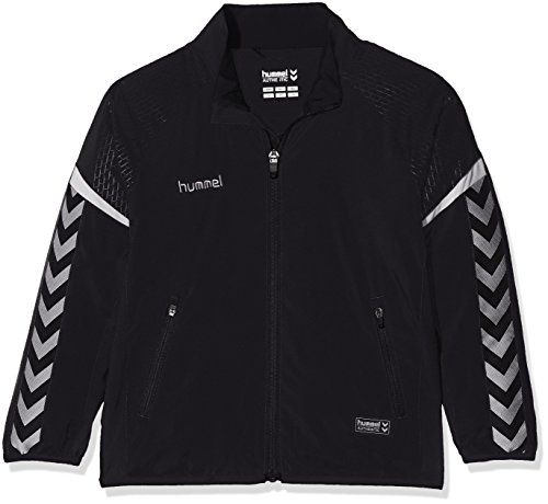 Hummel Kinder AUTH. Charge Micro Zip Jacket Jacke, Schwarz, 152