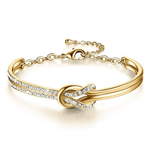 Imagen de ninamaid pulsera mujer con cristales de swarovski chapado en oro pulseras para mujer alternativa