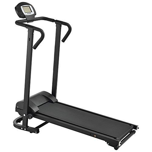 [in.tec] Laufband mechanisch [schwarz] mit LCD-Display klappbar Heimtrainer