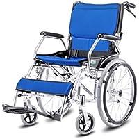 Silla de ruedas Plegable, aleación de Aluminio, Carretilla Mayor, Coche pequeño de los niños (Color : D)