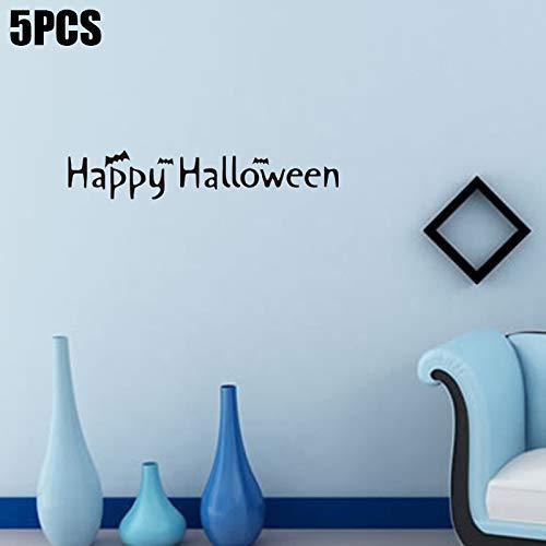 Dastrues 5 Stück Wandaufkleber PVC Entfernbarer Wasserfest Dekoration für Halloween Haus Zimmer
