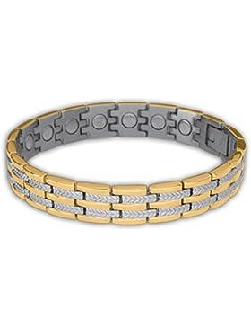 Sabona of London Regal Duett Energie- und Magnetarmband für Damen aus allergenfreiem 316L Edelstahl mit einer...