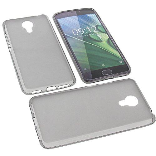foto-kontor Tasche für Acer Liquid Z6 Plus Gummi TPU Schutz Handytasche grau