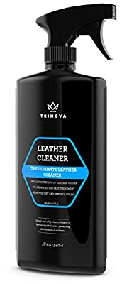 Leather Cleaner - For Purses, Sofa, Shoes, Car Care, Handbags, Furniture, Apparel, Bags, Couch, Chair, Gloves, Saddles, Jackets and more Remove dirt and stains - free microfiber towel - TriNova - 18 oz - cheap UK light store.
