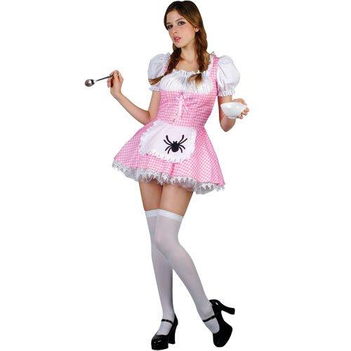 Dorothy Sexy Märchen Verkleidung für Frauen Karneval Fasching Halloween Kostüm M (Sexy Dorothy Kostüme)