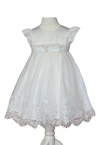 Maria Taufkleid Edel Festkleid Hochzeitskleid Blumenkleid ivory-weiß, Ivory-weiÃ, 80/86-2A