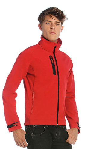 B&C - Men Technical Softshell Jacket White