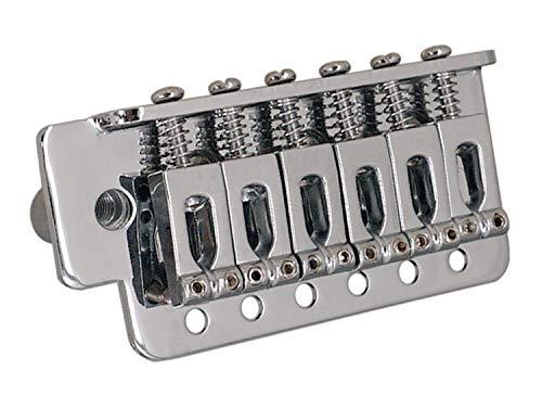 XuBa Tremolo-Brücken-Set für SQ ST E-Gitarre, Teile und Zubehör Silber (Kuchen Brücke)