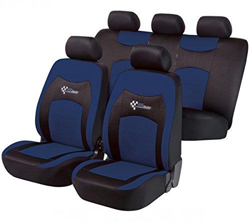 Preisvergleich Produktbild Timon 41194, Sitzbezug Schonbezug Autositzbezug, Komplett Set, Schwarz, Blau