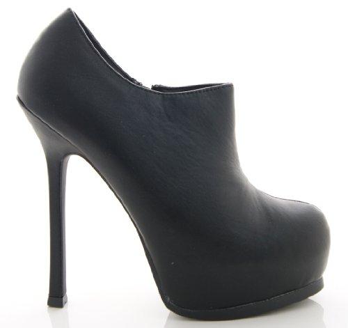 Scarpe da Donna in Finto Camoscio Nere alla Caviglia Nuove in Confezione Nere
