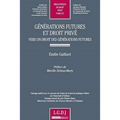 Générations futures et droit privé