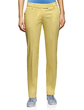 oodji Collection Mujer Pantalones de Algodón Stretch