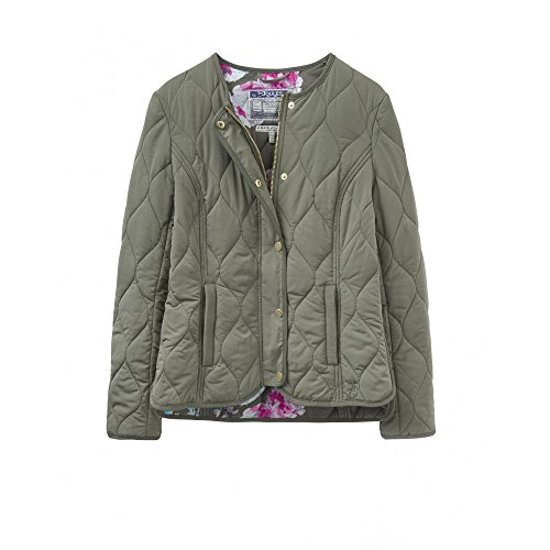 Joules Womens/Ladies Gisella Collarless Quilt Padded Casual Jacket Soft Khaki