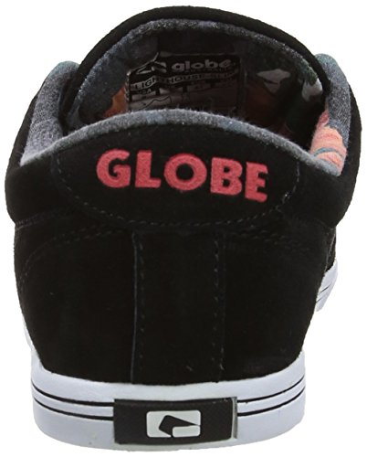 Globe Lighthouse-Slim Unisex-Erwachsene Sneakers Schwarz (black/hibiscus 20066)
