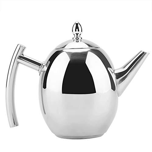 Teiera in acciaio inox, contenitore per bollitore per tè e caffè 1000/1500 ml con filtro a rete estraibile(1000ml)