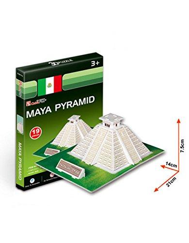 Die Pyramiden Dreidimensionale Gebäude Des Manuelle Montage Papiermodell