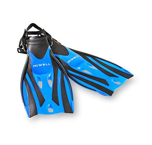 McWELL Kinder Schwimmflossen, Blau, One Size