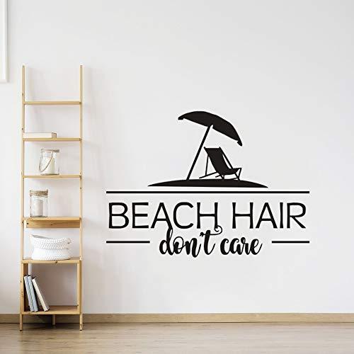 JXNY Strand für Urlaub Wandaufkleber Meer Stil Wohnkultur Ozean Thema Zeichen für Wandtattoo Strand Zitat Vinyl Wandbilder 57X41 CM