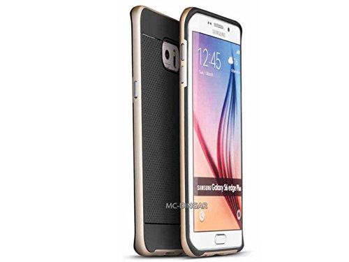Luxe Ultra Mince Fin Motif Doux PC Hybride Bumper Coque pour Samsung Galaxy S6Edge Plus Black/Gold