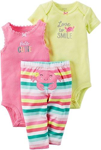 Carter's 3-Stück MIX 'N MATCH Baby / Kleinkind Mädchen Set (6 Monate) (Carters 3 Rosa Stück)