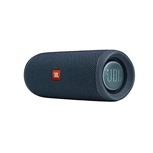 JBL Flip 5 Bluetooth Box (Wasserdichter, portabler Lautsprecher mit umwerfendem Sound, bis zu 12 Stunden kabellos Musik abspielen) blau