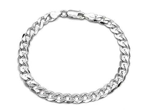 Curb Chain Bracelet 925Sterling Silver 6,7mm Silver Necklace Silver Bracelet 21cm Bracelet Unisex