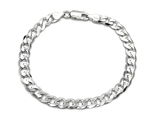 Panzerarmband 925 Sterling Silber 6,7mm Länge wählbar 21-22 cm Panzerkette Silberkette Silberarmband Armband Herren (21)