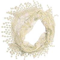 ERQINGWJ Bufanda Borla De Encaje De Moda Pura Impresión Floral Bufanda De Las Mujeres Mantón Bufanda del Otoño Sólido del Invierno para para Mujer Damas Elegante