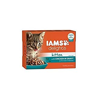 Iams Delights Kitten Food in Gravy 12 x 85g (1.02kg) 6
