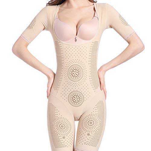 Flexees Slip Control (JWANS Frauen Ganzkörper Shaper Bodysuit Slim Control Slip Thermoelastisch Komfortabel Oberschenkel Po Lift Schlanker Shapewear)